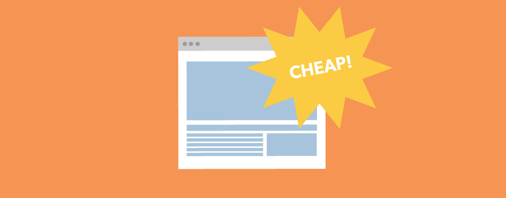 The downside of cheap websites