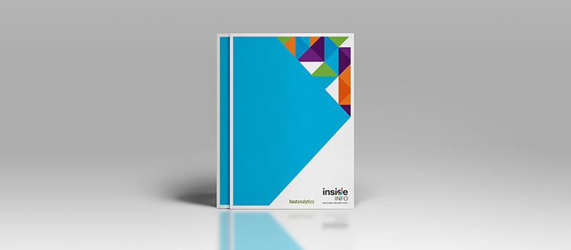 Inside Info brand refresh: A4 brochure designed by Orion Creative.