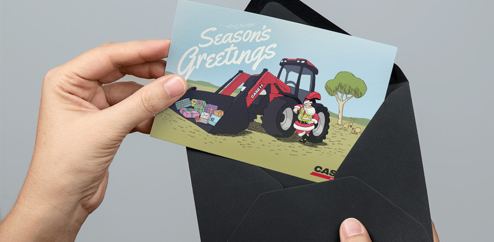 creative – printed and ready to be sent out