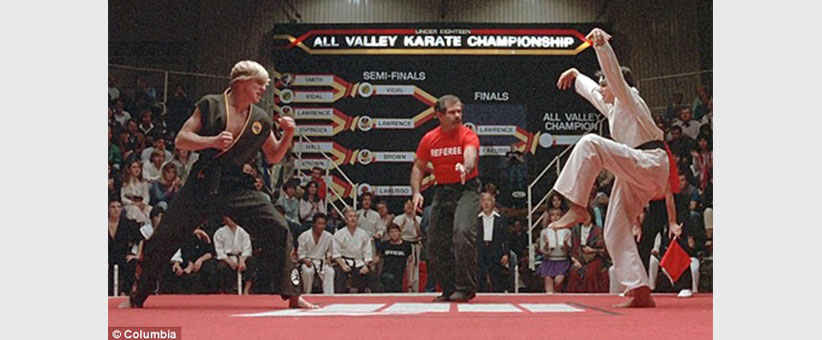 Content marketing ideas and tips. Find the right balance with content marketing - The Karate Kid