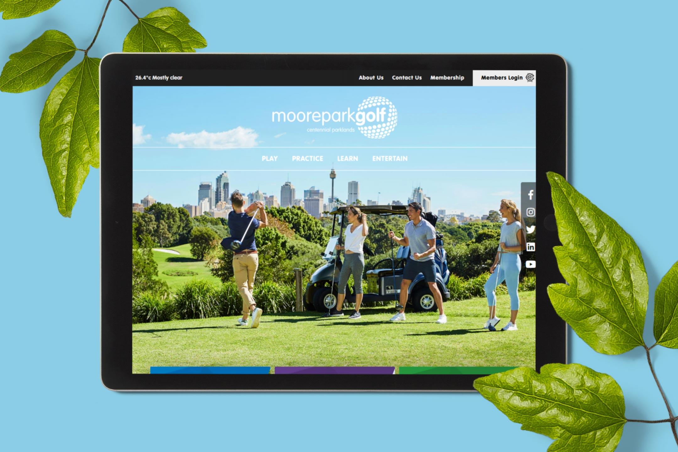 Moore Park Golf Website