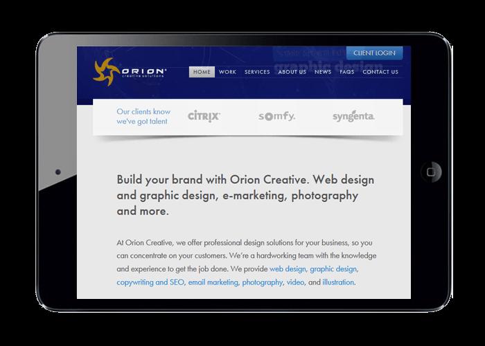 responsive web design displayed on an iPad'