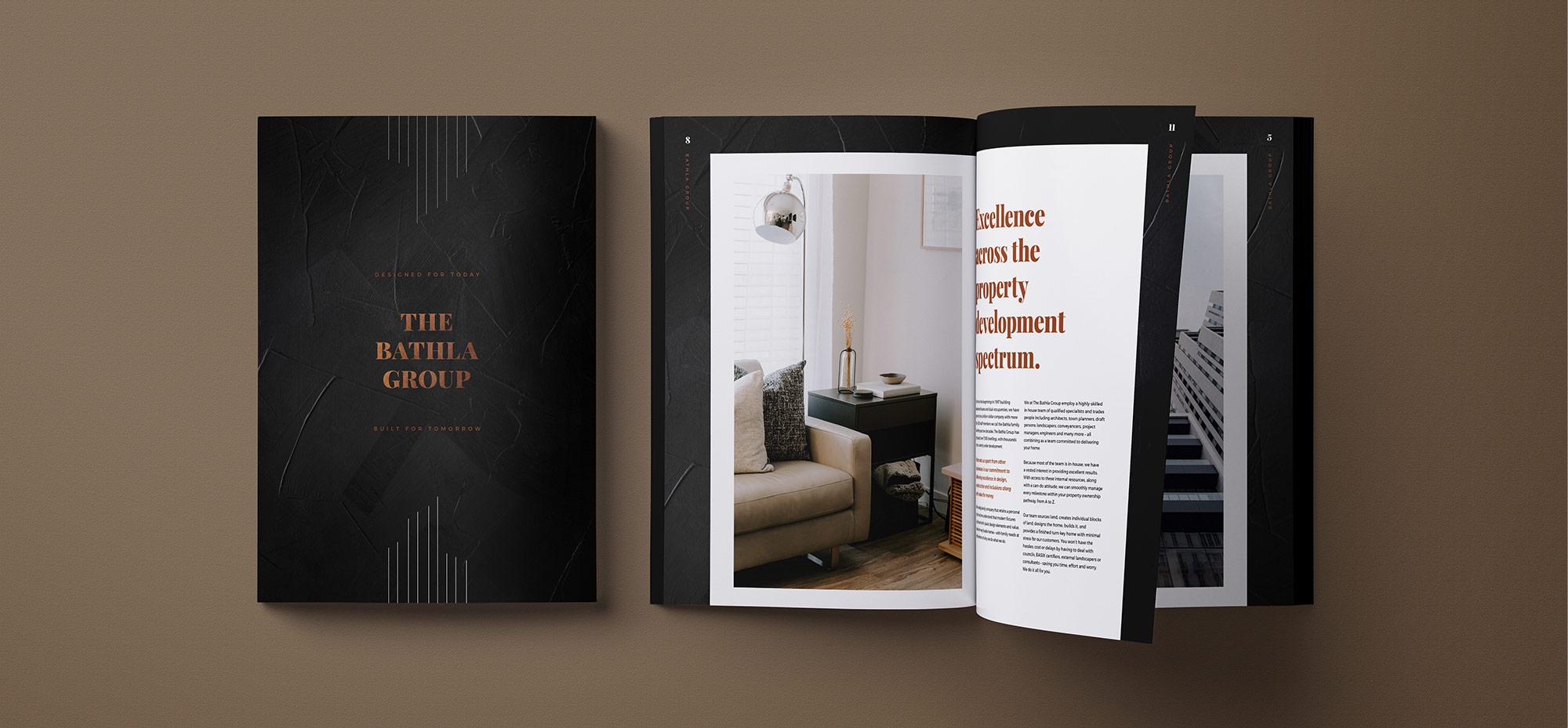 Bathla brochure design