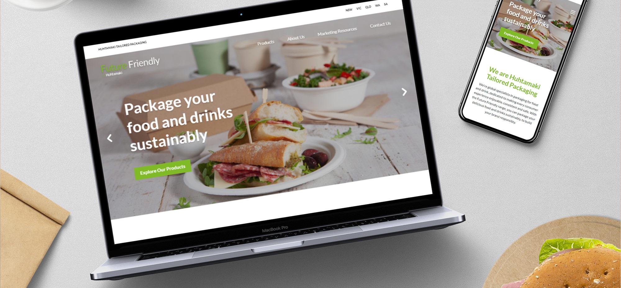 Future Friendly Packaging web design