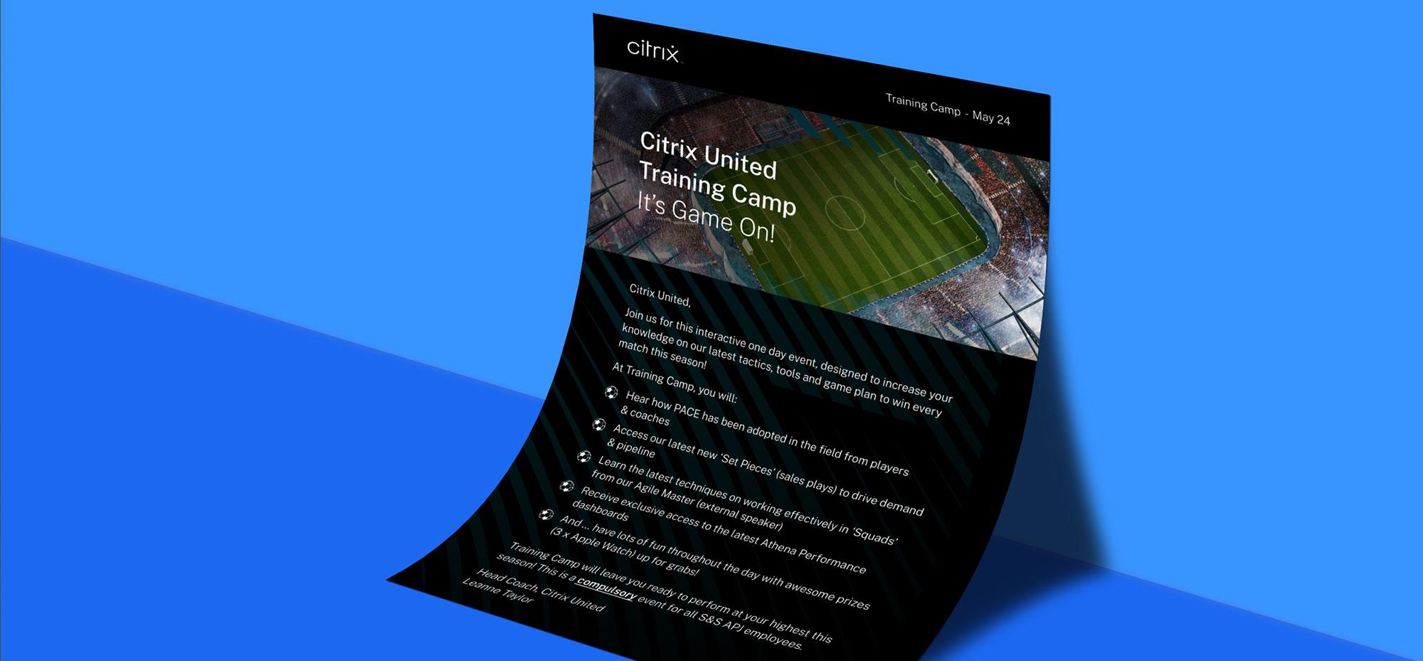 Citrix United brochure design