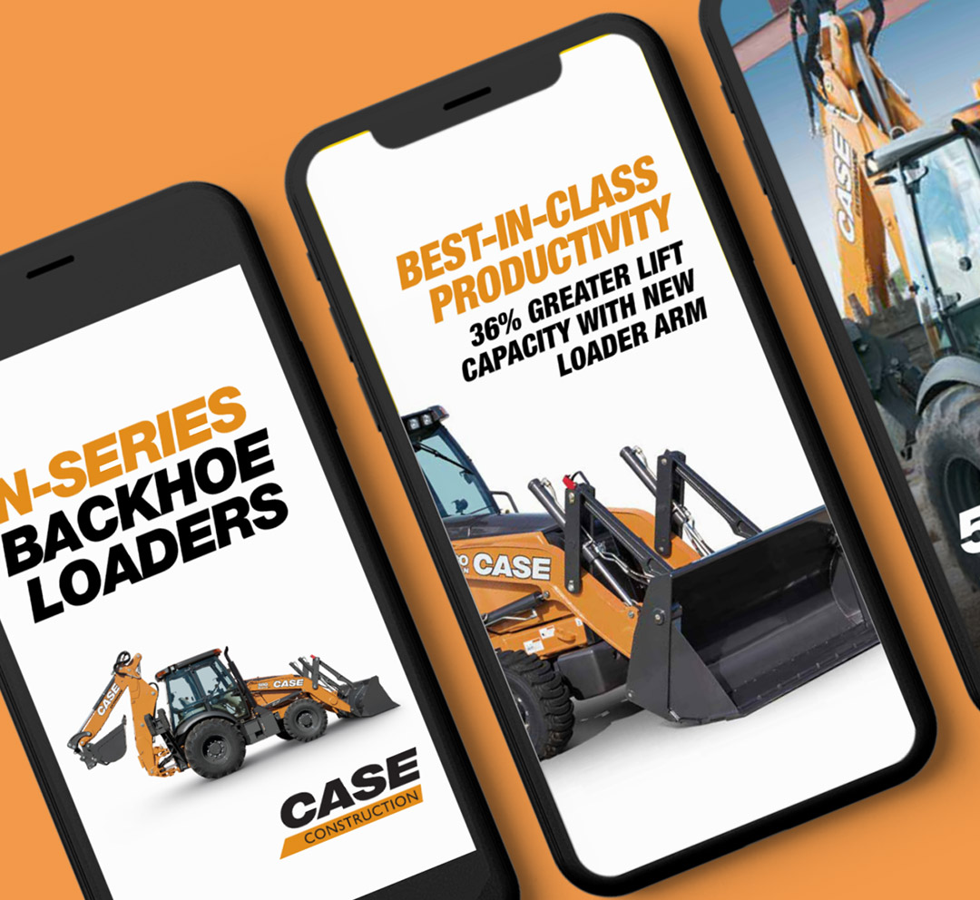 CASE Construction Equipment Instagram Stories