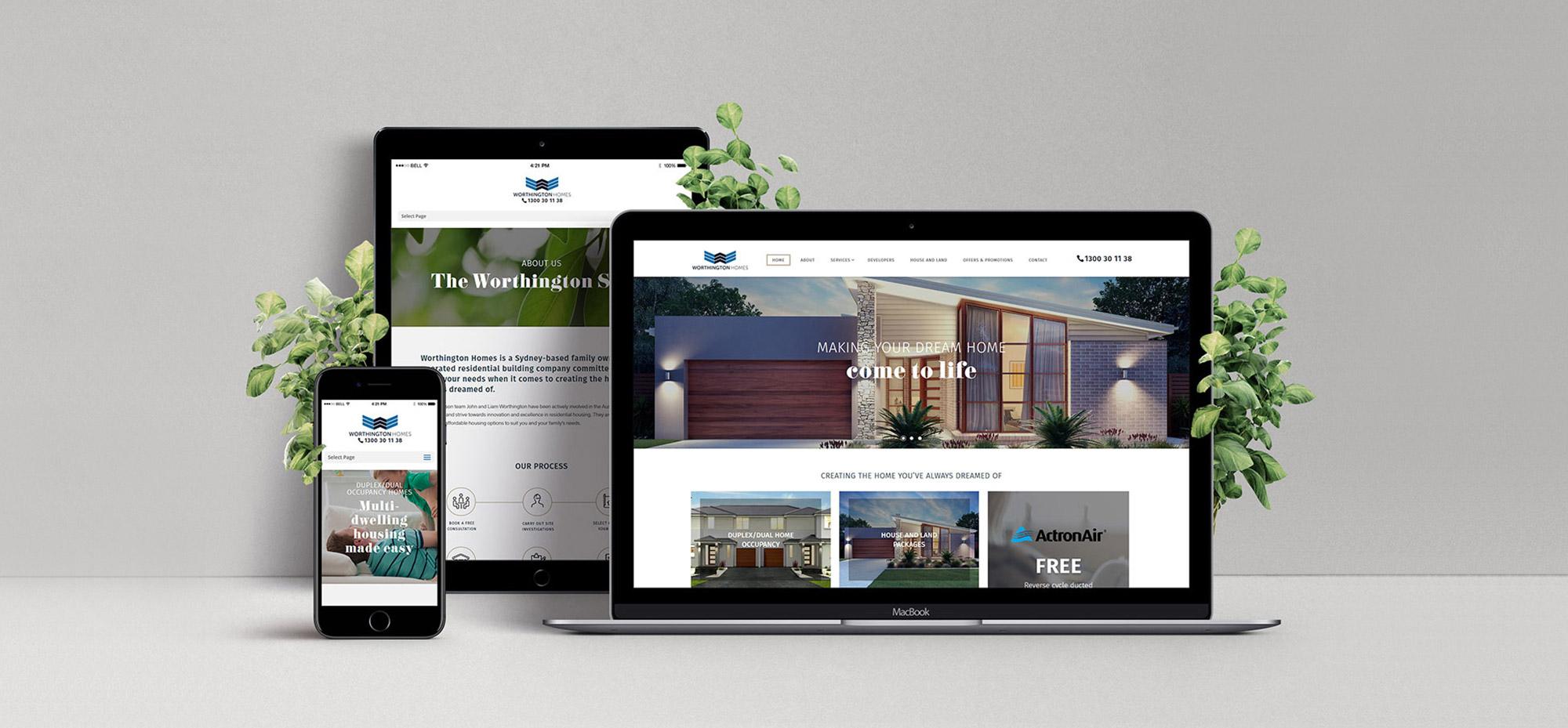 Worthington Homes web design