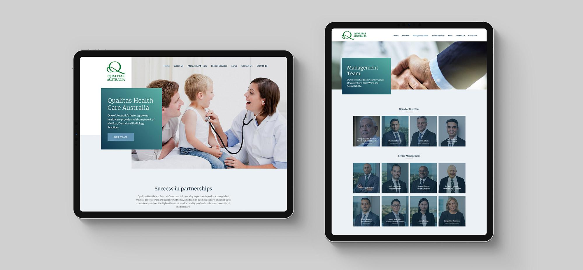 Qualitas Health web design