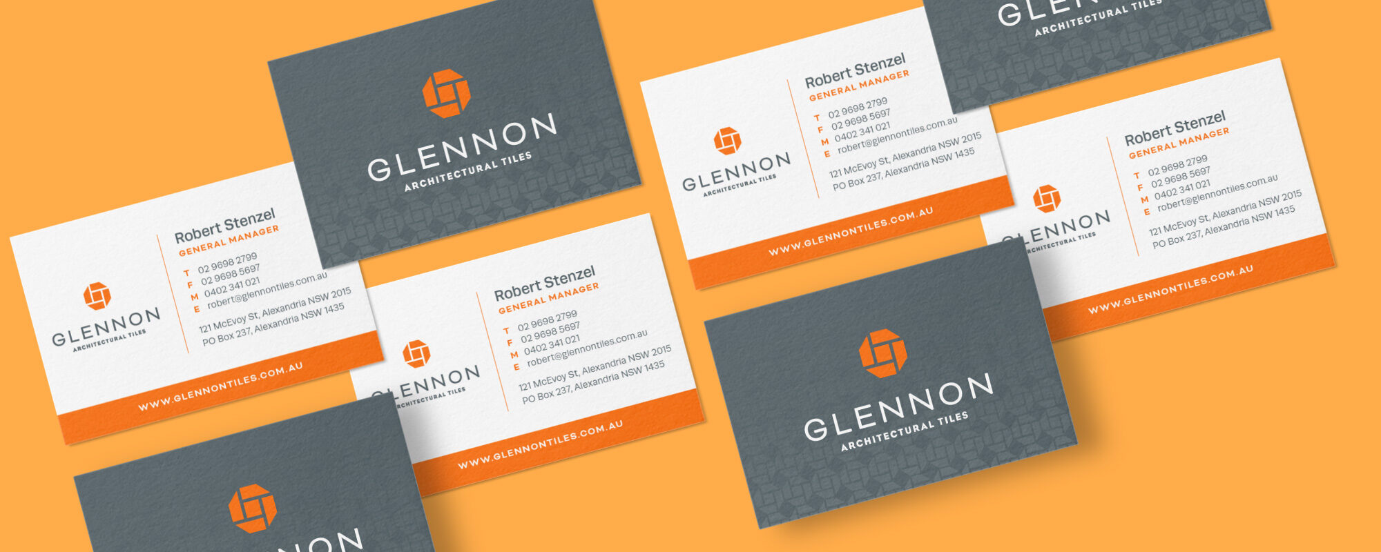 Glennon Tiles business card design