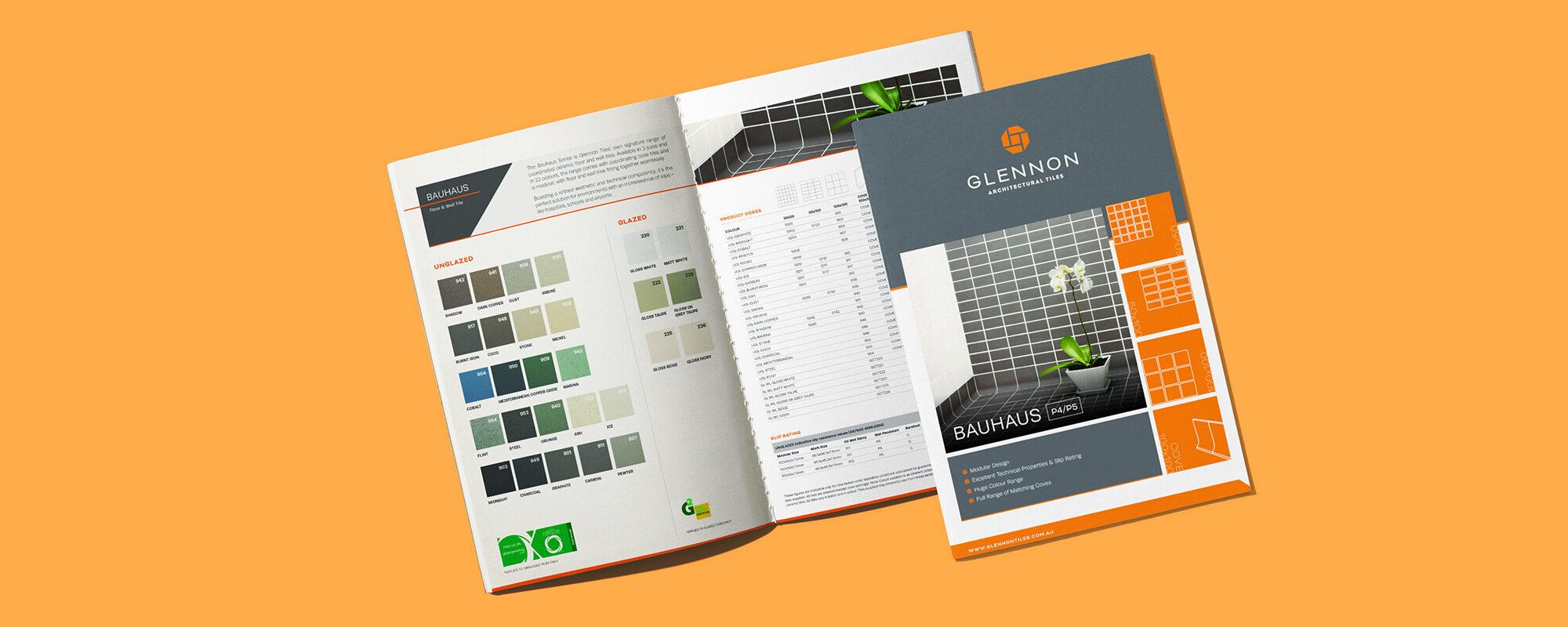 Glennon Tiles brochure design