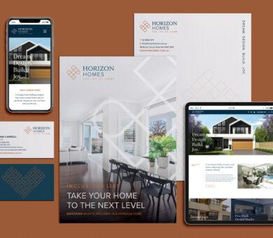 Horizon Homes branding & graphic design